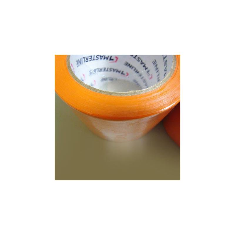 Ruban adhésif orange PVC - 75mm x 33m - Très résistant - Qualité professionnelle