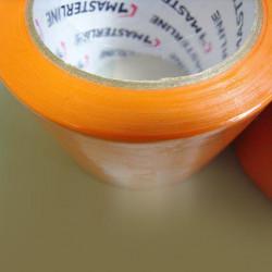 Ruban adhésif orange PVC - 50mm x 33m - Très résistant - Qualité professionnelle