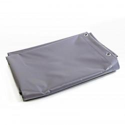 Bâche Toiture 6x8 m - Ultra résistante - Etanche - Anti-UV - Fabrication française - Grise - Œillets