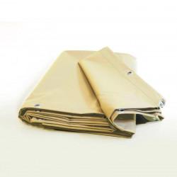Pack Bâche Pergola 15m2 Prêt à l'emploi (1 bâche pergola ivoire ultra résistante + 1 sandow élastique)