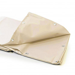 Bâche Pergola 2x3 m - Ultra résistante - Etanche - Anti-UV - Fabrication française - Ivoire - Œillets