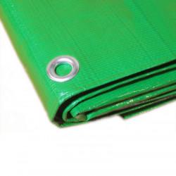 Bâche Toiture 4x5 m - Très résistante - Etanche - Anti-UV - Verte et marron - Œillets